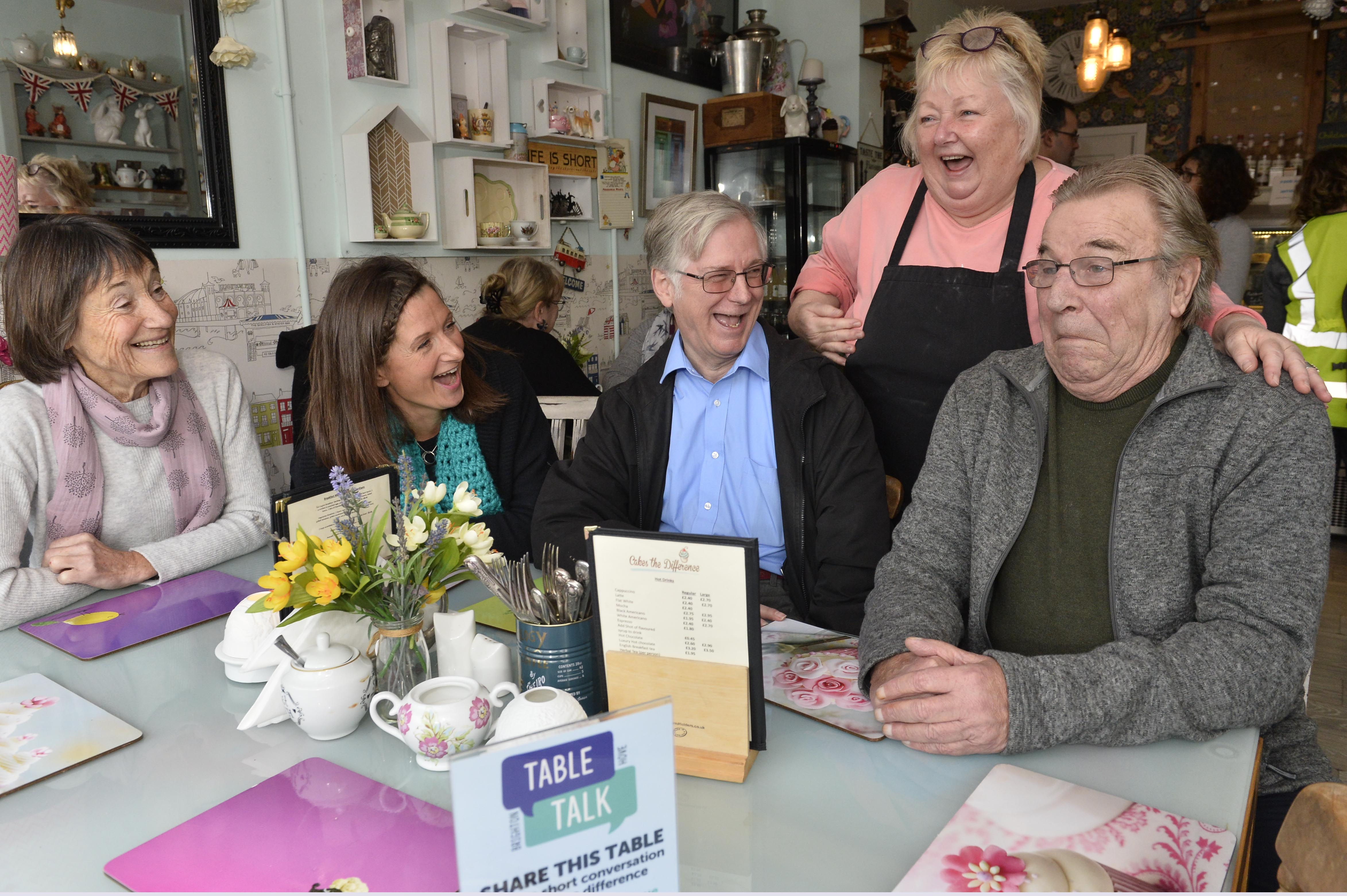 Table Talk at Cakes a Difference cafe in Patcham