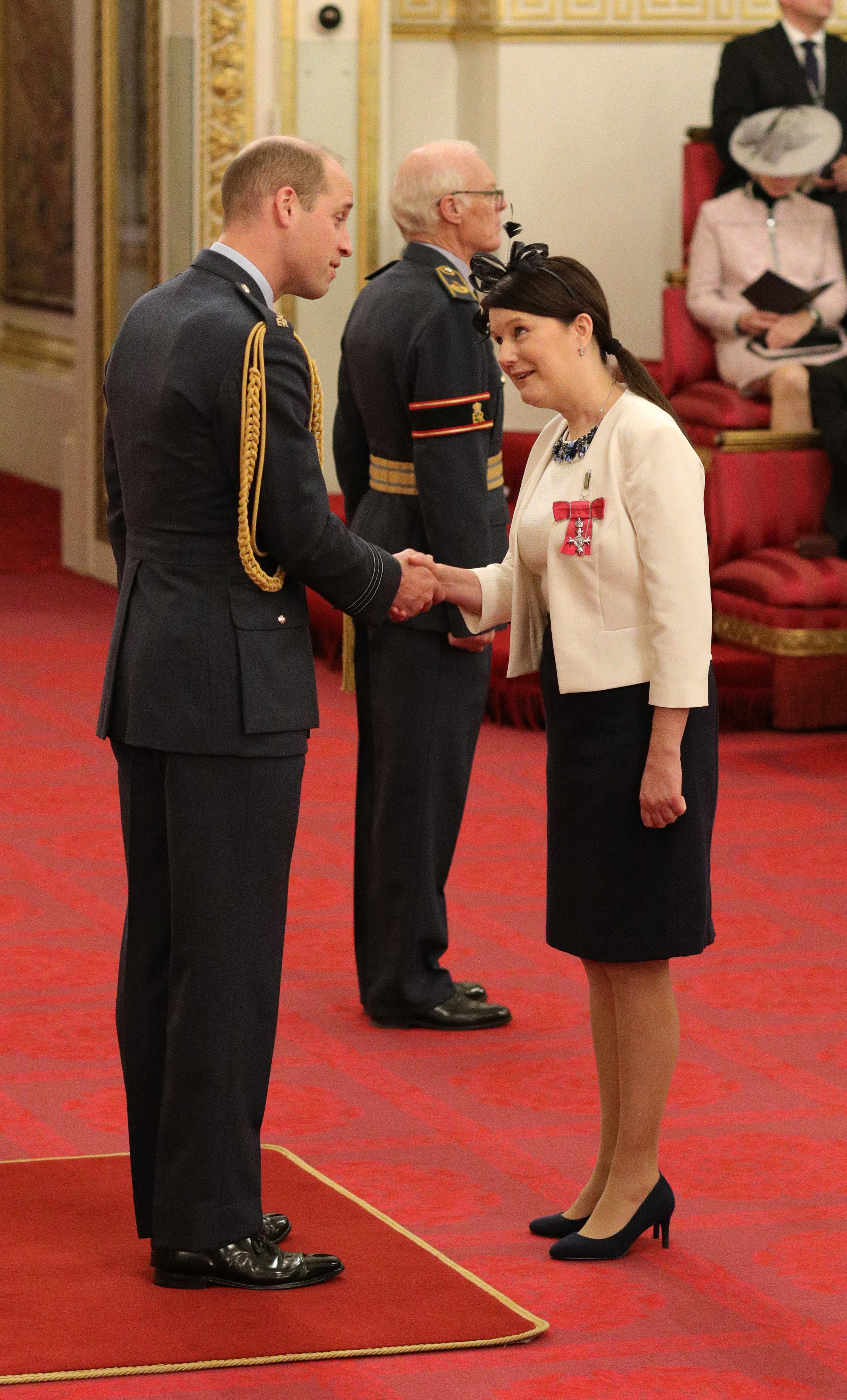Brighton & Hove Buses' Accessibility and Community Manager Victoria Garcia received her MBE from the Prince William, the Duke of Cambridge