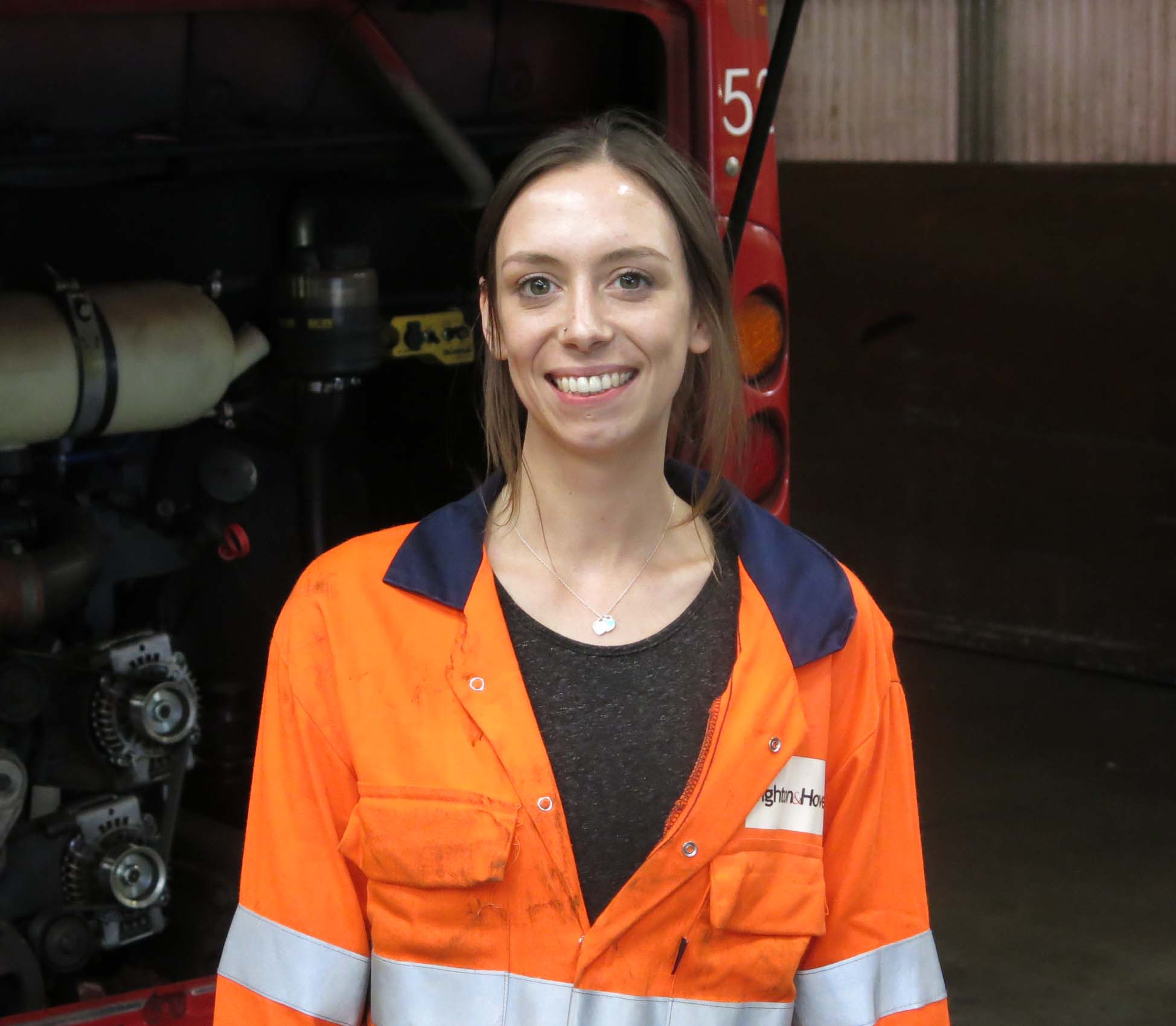 Kylie Griffiths is an apprentice engineer at Brighton & Hove Buses