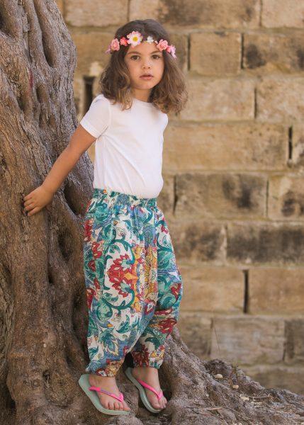 Cotton Harem Pants Festival Print