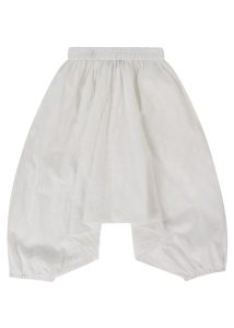 Cotton Harem Pants White Paisley Print