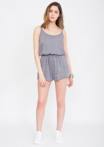Geo Print Strappy Playsuit