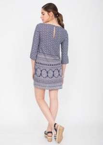 Seville Tunic Dress with 3/4 Sleeves
