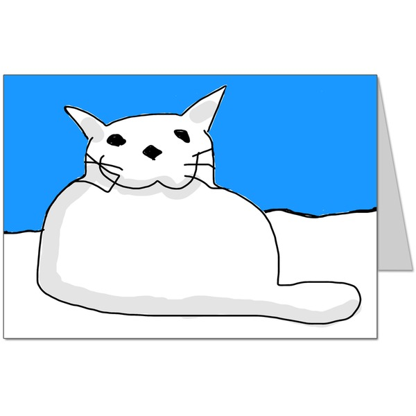 Snow Cat Card