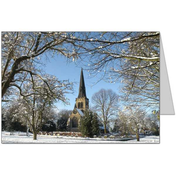 Snowy Church Card