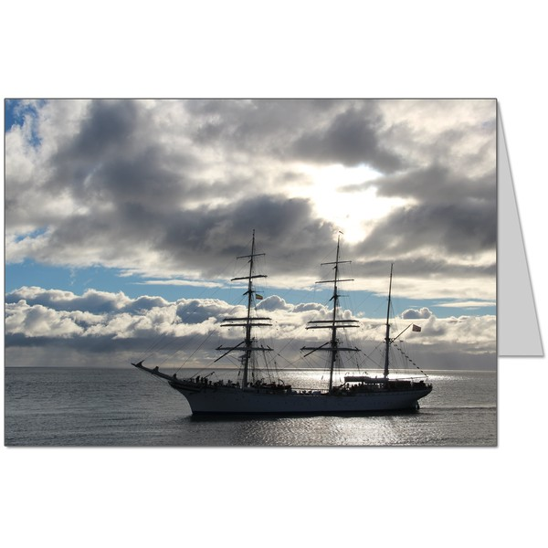 Barque at Sunrise Card