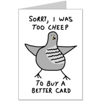 Too Cheep Card