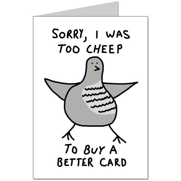 Too Cheep Card