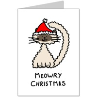Meowry Christmas Card