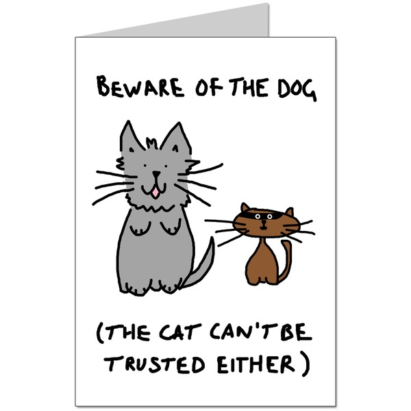 Beware of the Dog Card