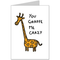 Giraffe Me Crazy Card