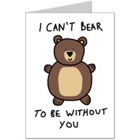 Can't Bear It Card