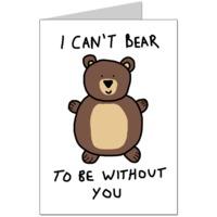 Can't Bear It Card