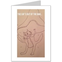 The cats out of the bag Card