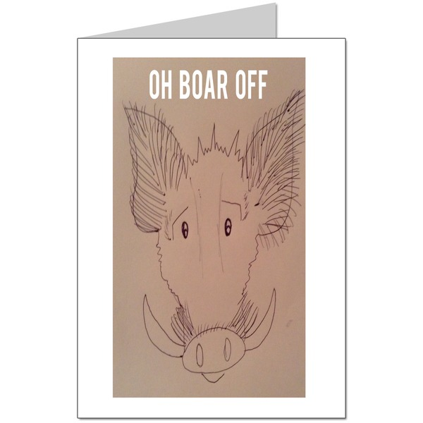 Oh Boar Off Card