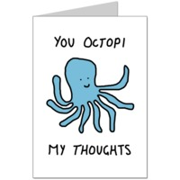 Octopi My Thoughts Card