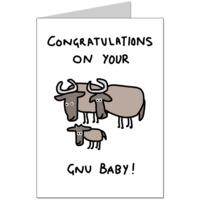 Gnu Baby Card