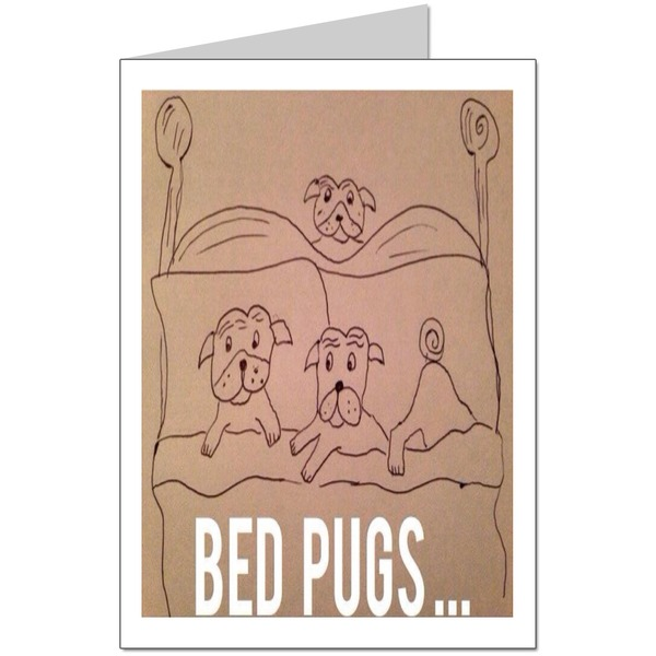 Bed pugs Card