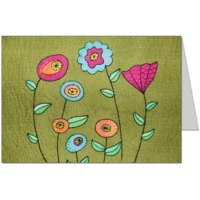 Folk Art Flowers Card
