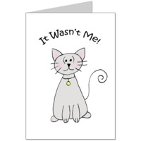 Naughty Cat Card
