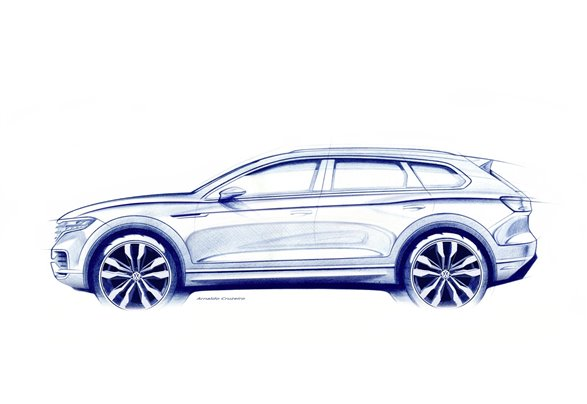 New Volkswagen Touareg teased ahead of March debut