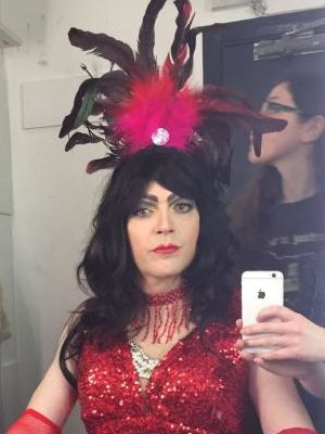 """2016 Dressing room shot of murdered Drag Queen Kitty Collins for """"50 Ways to kill your Lover"""" · By: Lori MacGregor"""