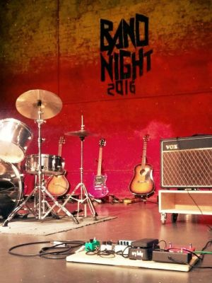 Sound operator fot Band Night 2016 · By: Katy Cirne