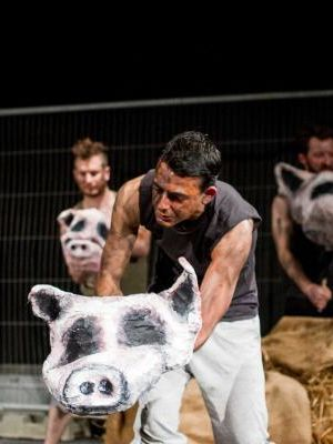 As Squealer in Animal Farm
