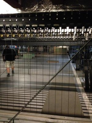 Rigging point hoists on 73m grid