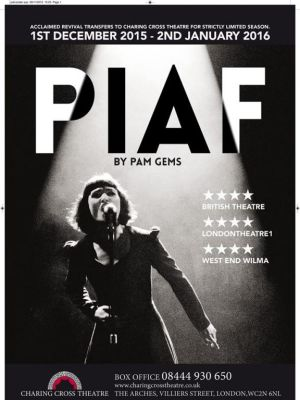 'Piaf' - Charing Cross Theatre · By: Gillian Tan