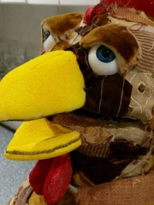 Chicken puppet for 'Georges Marvellous Medicine'. · By: Karen Davis