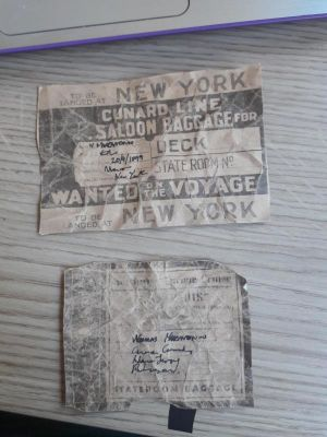 Luggage labels: paper props make · By: Sophie Duffin