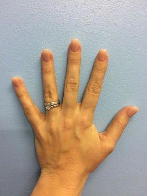 Left hand Jessie Folley