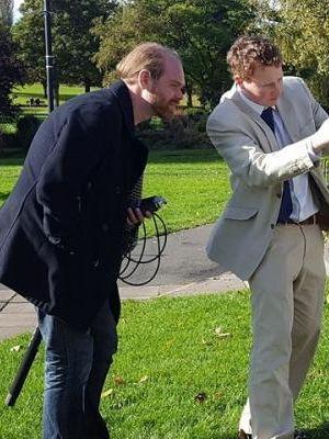 Rupert shooting Lucky Strike commercial