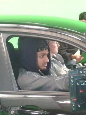 Rupert in Car