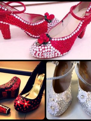 Plain shoes that I have sparkled! · By: Anna-Lisa Maree