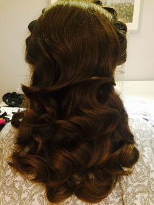 Waves on thick hair. · By: Elise Baker