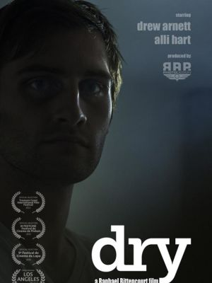 """2015 Poster of """"DRY"""" - Written, Directed and Edited by Raphael Bittencourt · By: Ernesto Pletsch"""