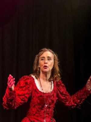 2017 As Mistress Quickly in Go Forth with the Shakespearience · By: Ian Macaulay