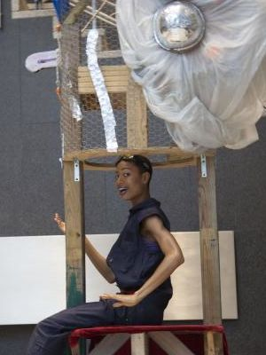 2016 The Tool Sculpture with dancer: Control Equinox at Metrotech · By: Niki Singleton