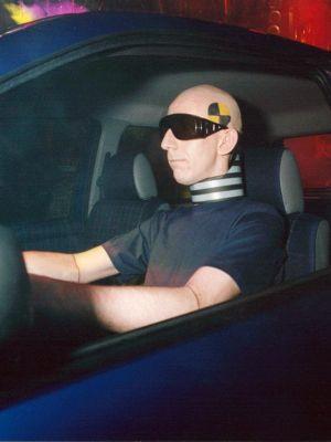1999 Aidan Bell as a crash test dummy · By: Monica Severenson