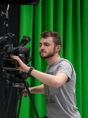 2017 Me operating a camera on a dolly · By: Nick Price