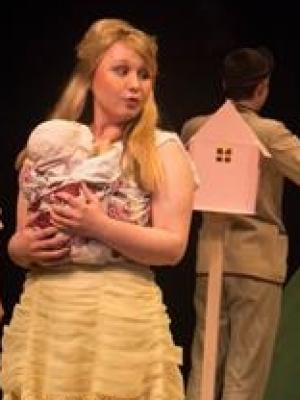 As Anna Piccolo in play DEAR VILLAGERS, East 15 Acting School