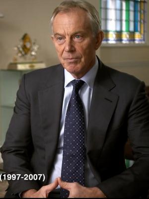 "Tony Blair interviewed in ""Little America"""