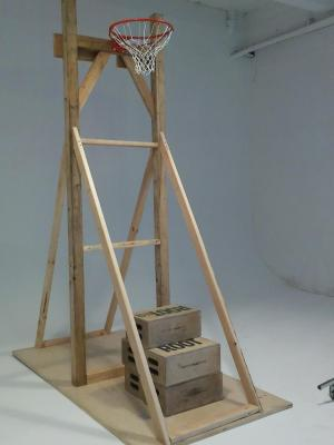 2017 Freestanding basketball hoop to hold talent for Photoshoot · By: Niki Singleton