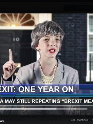 Mini Theresa May - still from Coasts music video