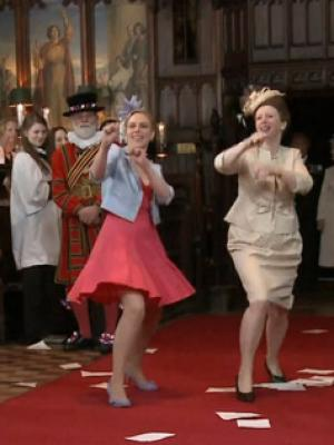PRINCESS ANNE Royal Wedding Dance T Mobile Advert