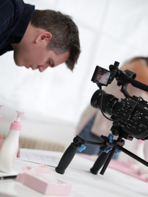 2017 filming Skincare commercial · By: Khurum