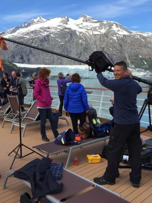 2016 Stefan filming in Glacier Bay, Alaska for Channel 5 · By: Darren Lilley