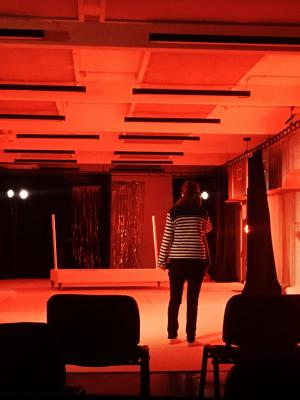 First Tech Session as Lighting Designer on Buckets · By: Suzie Dubowski